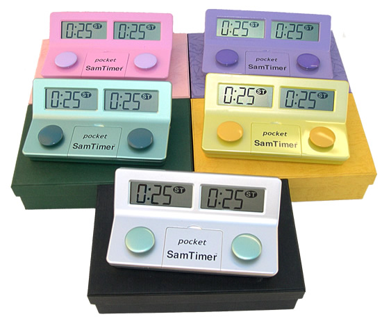 The pocket SamTimer  TM comes in FIVE color choices!!