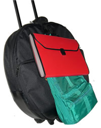 Strap secures your items to bag for transport.